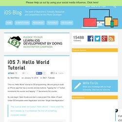 iOS 7: Hello World Tutorial