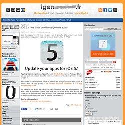 iOS 5.1 : les outils de développement à jour