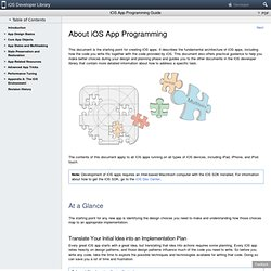 iPhone Dev Center: iPhone Application Programming Guide: Introdu