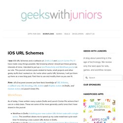 iOS URL Schemes — Geeks With Juniors