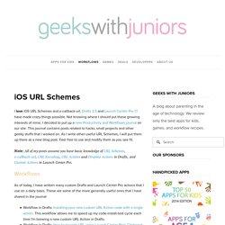 iOS URL Schemes — Geeks With Juniors