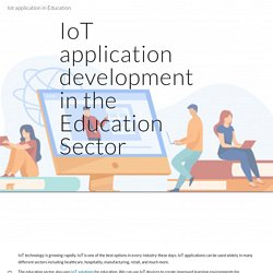 Iot application in Education