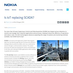 Is IoT replacing SCADA? - Blog