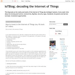 How to invest in the Internet of Things (my 18 stock IoT index)