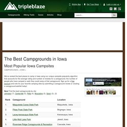 Best Places to Camp in Iowa