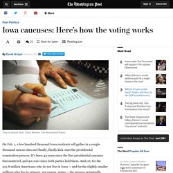 Iowa caucuses: Here's how the voting works