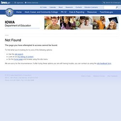 Iowa Core - Iowa Department of Education