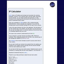 IP Calculator / IP Subnetting