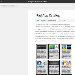 iPad App Catalog - Abingdon
