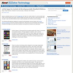 iPad Apps for Autistic Students