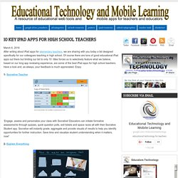 10 Key iPad Apps for High School Teachers