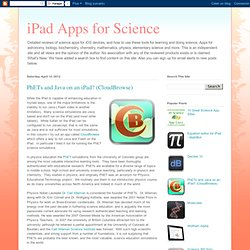 Science Apps for iPad, iPhone and iPod Touch
