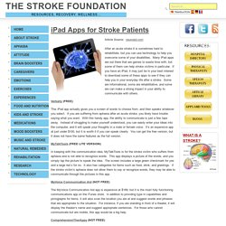 iPad Apps for Stroke Patients