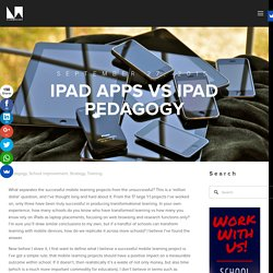 iPad apps vs iPad pedagogy — LearnMaker