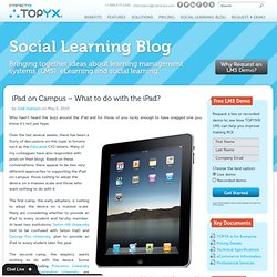 iPad - tablette - What to do with the iPad? / Que faire d'un iPad?
