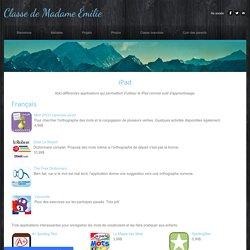 iPad - Classe de Madame Émilie
