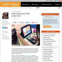 iPad Classroom Visit Look-Fors