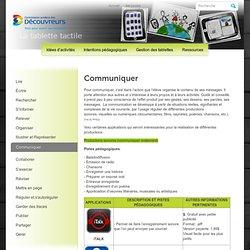 iPad » Communiquer