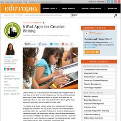 6 iPad Apps for Creative Writing