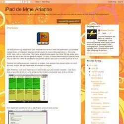 iPad de Mme Arianne: Planbook