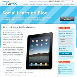First Look at the iPad for eLearning | TOPYX Learning Management System