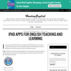 iPad Apps for English teaching and learning