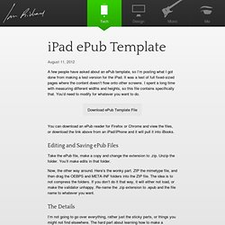 iPad ePub Template