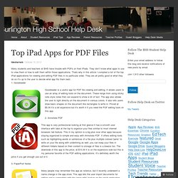 Top iPad Apps for PDF Files