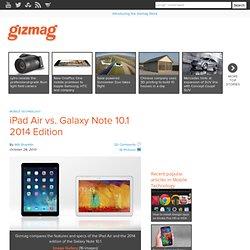 iPad Air vs. Galaxy Note 10.1 2014 Edition