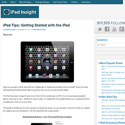 iPad Tips: Getting Started with the iPad