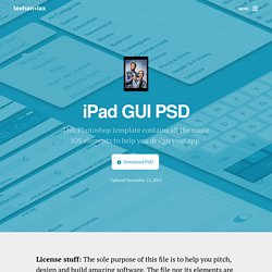iPad GUI PSD | Downloads