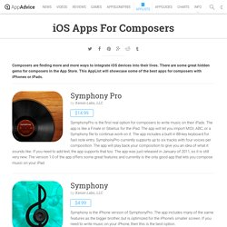 iOS Apps For Composers: iPad/iPhone Apps AppList