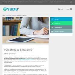 iPad & iPhone publishing apps | YUDU