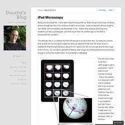 iPad Microscopy