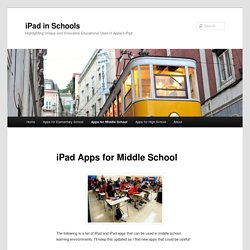 iPad Apps for Middle School | iPad in Schools