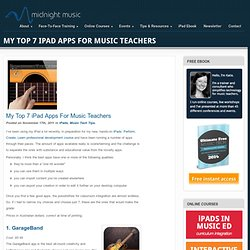 Top 7 iPad Apps for Music Teachers