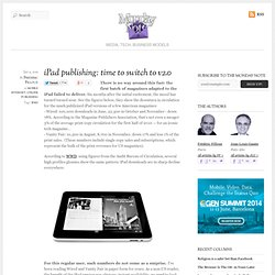 iPad publishing: time to switch to v2.0