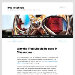 Why the iPad Should be Used in Classrooms | iPad in Schools