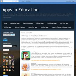 Apps in Education: 14 iPad Apps for Storytelling in the Classroom