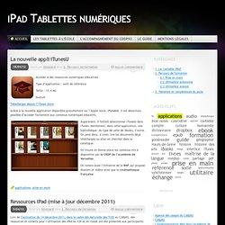 iPad Tablettes numériques «