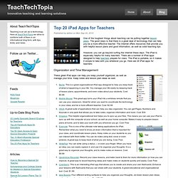 Top 20 iPad Apps for Teachers – TeachTechTopia