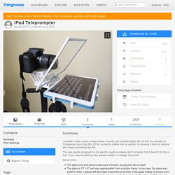 iPad Teleprompter by speedy777