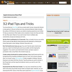 32 iPad Tips and Tricks