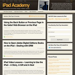 IPad Tips & Tutorials | iPad Academy - Part 4