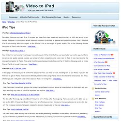 iPad Tips - Useful iPad Tips & iPad Tricks