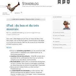 iPad : du bon et du très mauvais