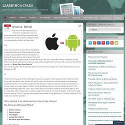iPad vs. BYOD