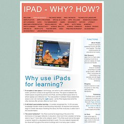 iPad - Why? How?