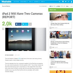 iPad 2 Will Have Two Cameras [REPORT]