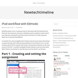 iPad workflow with Edmodo